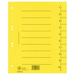 Pregrada kartonska A4 250g Donau 8610001-11 žuta