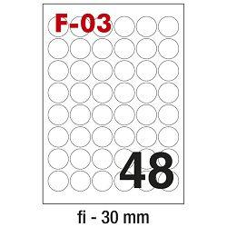 Etikete ILK fi-30mm pk100L Fornax F-03