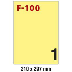 Etikete ILK 210x297mm pk100L Fornax F-100 žute