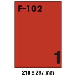 Etikete ILK 210x297mm pk100L Fornax F-102 crvene