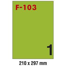 Etikete ILK 210x297mm pk100L Fornax F-103 zelene