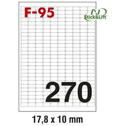 Etikete ILK  17,8x10mm odljepljive pk100L Fornax F-95