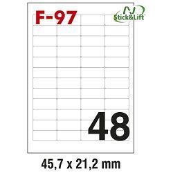 Etikete ILK  45,7x21,2mm odljepljive pk100L Fornax F-97