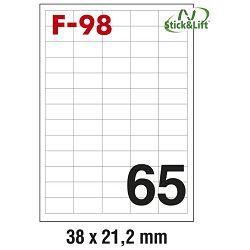 Etikete ILK  38x21,2mm odljepljive pk100L Fornax F-98