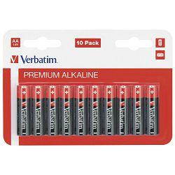 Baterija alkalna 1,5V AA pk10 Verbatim 49875 LR6 blister