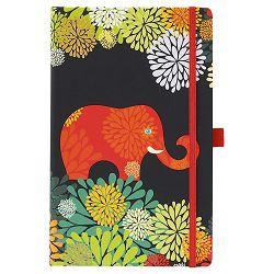 Notes Ivory  9x14cm karo s gumicom Animal graphic 03-002 slon!!