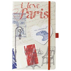 Notes Ivory  9x14cm karo s gumicom Traveller 05-009 Paris!!