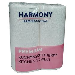 Ručnik papirnati jastučni 22cm dvoslojni pk2 Harmony bijeli