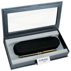 Set poklon olovka multifunkcijska ELE + etui kožni Penac srebrn+klipsa zlatna