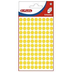 Etikete slep fi- 8mm pk4L Herlitz 11296688 žute blister!!