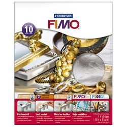 Listići za mase za modeliranje metalni 10 listova Fimo Staedtler 8781-81 srebrni blister!!