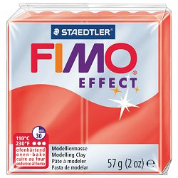 Masa za modeliranje   57g Fimo Effect Staedtler 8020-204 prozirno crvena