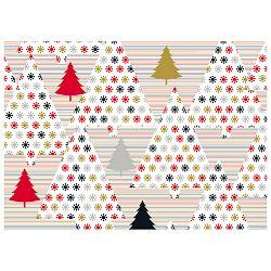 Papir ukrasni rola metaliziran 70x150cm Trees red/black Herlitz 40023984