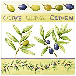 Salvete troslojne 33x33cm pk20 Olives Herlitz 11095171!!