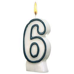 Svijeća rođendanska br.6 Herlitz 11142627 blister!!