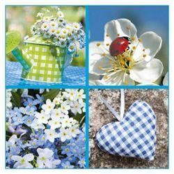 Salvete troslojne 33x33cm pk20 Blue garden Herlitz 11375565!!