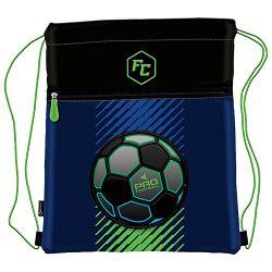 Vrećica za tjelesni Pro Football Connect crno-plavo-fluo zelena