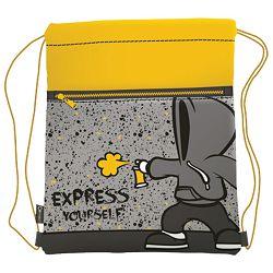 Vrećica za tjelesni Express yourself Connect sivo-žuta