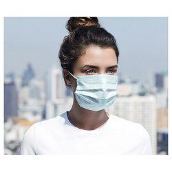 Maska za lice zaštitna jednokratna (za građanstvo) 3-slojna pk50 plava