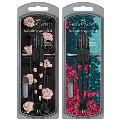 Šestar s preciznim podešavanjem+mine Girls Faber Castell 174441 sortirano blister