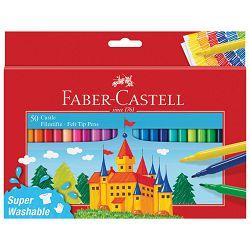 Flomaster školski  50boja Faber Castell 554204 blister