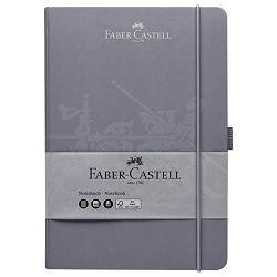Notes 14,5x21cm karo 96L 100g s gumicom Faber Castell 100 278 25 sivi