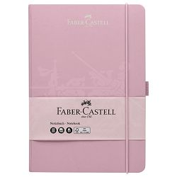 Notes 14,5x21cm karo 96L 100g s gumicom Faber Castell 100 278 26 rozi