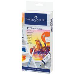 Boja vodena u tubi 9ml 12boja+paleta Creative Studio Faber Castell 169612 blister