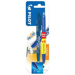 Roler gel 0,7mm Frixion piši-briši plavi+olovka kemijska Super Grip G plava gratis Pilot blister