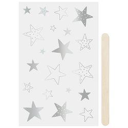 Naljepnice ukrasne Zvijezde Heyda 20-37809 48 blister srebrne
