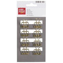Kvačice za papir 19mm deko pk8 KnorrPrandell 21-6266174 zlatne blister