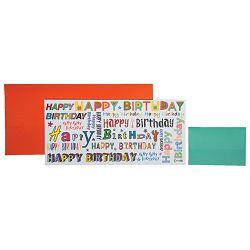 Čestitka 11x23cm Happy birthday Stewo 5611 60 blister