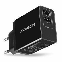 AXAGON ACU-DS16 zidni punjač 5V/2.2A + 5V/1A SMART, crni