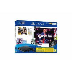 PlayStation 4 500GB F Chassis Black + FIFA 21 + FUT VCH + PS Pl 14dana
