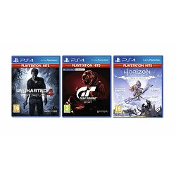 3 igre PS4: Gran Turismo+Uncharted 4:A Thiefs End+Horizon Zero Dawn
