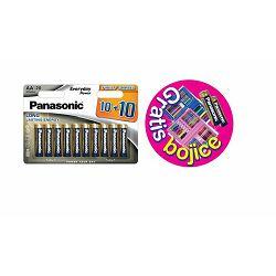 PANASONIC baterije LR6EPS/20BW 10+10F + kreativni set za bojanje plavi