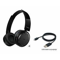 PANASONIC slušalice RP-BTD5E1-K crne, naglavne, Bluetooth