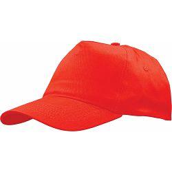 Kapa BASIC 5 pamučna crvena, čičak 86191 P50/200