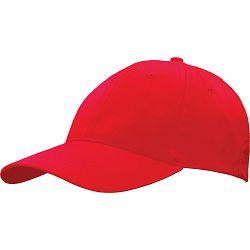 Kapa BASIC 6 pamučna crvena, čičak 86199 P50/200