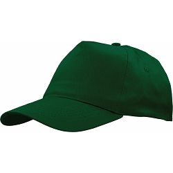 Kapa BASIC 5 pamučna tamno zelena, čičak 86196 P50/200