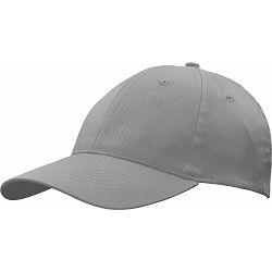 Kapa BASIC 6 pamučna siva, čičak 86200S P50/200