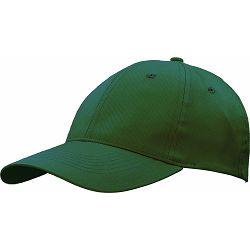 Kapa BASIC 6 pamučna tamno zelena, čičak 86197 P50/200
