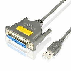 AXAGON ADP-1P25 USB2.0 - Parallel DB25F Printer Adapter, 1.5m