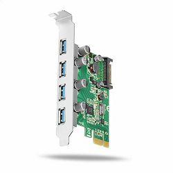 AXAGON PCEU-430V PCIe Adapter 4x USB3.0