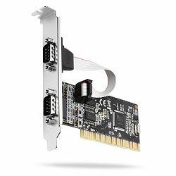 AXAGON PCIA-S2 PCI Adapter 2x Serial Port + LP limić
