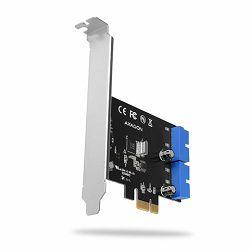 AXAGON PCEU-034VL PCIe Adapter 4x USB3.2 interni+ LP limić
