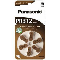 PANASONIC baterije PR312L/6LB, Zinc Air