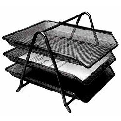 Stalak za papir žica 3 ladice crni HY62001 22663  P12