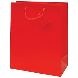 Vrećica L jednobojna mat crvena 26x32,4x12,7cm 71211 P12/144