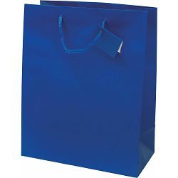 Vrećica L jednobojna mat plava 26x32,4x12,7cm 71210 P12/144